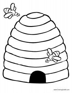 Math Coloring Sheets on Bee Hive Ii   Mumblebee Inc