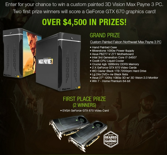 Newegg com Max Payne 3 PC Sweepstakes | MumbleBee Inc