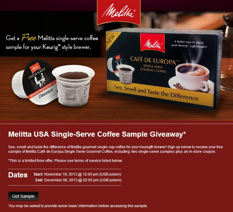 Melitta USA Single-Serve Coffee