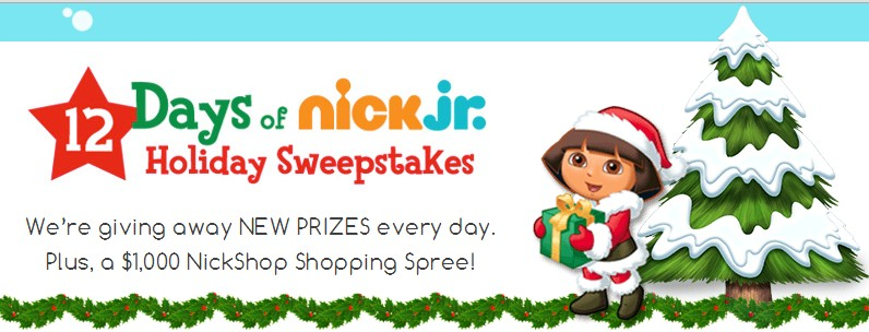 Nick Jr. Holiday Sweepstakes
