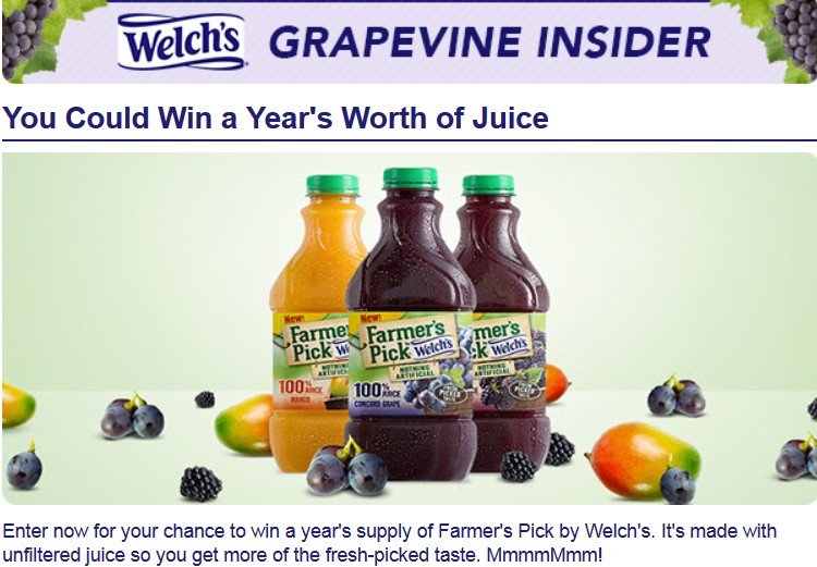 Welch's  Giveaway
