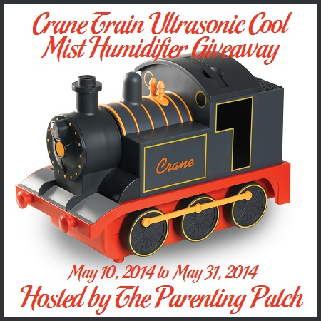 2014-05-10 Crane Train Ultrasonic Cool Mist Humidifier Giveaway