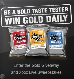 the Gold Giveaway and Xbox Live Sweepstakes