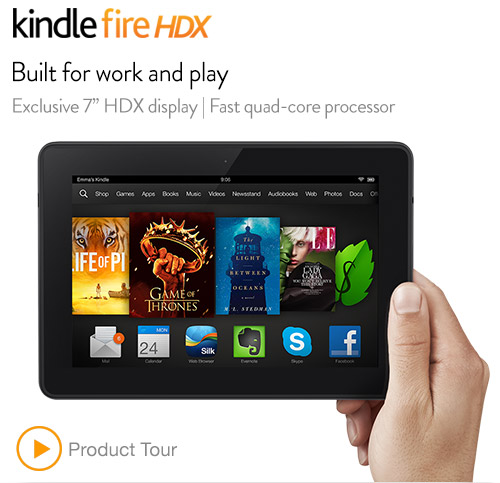 "Kindle Fire HDX 7"" 4G LTE"