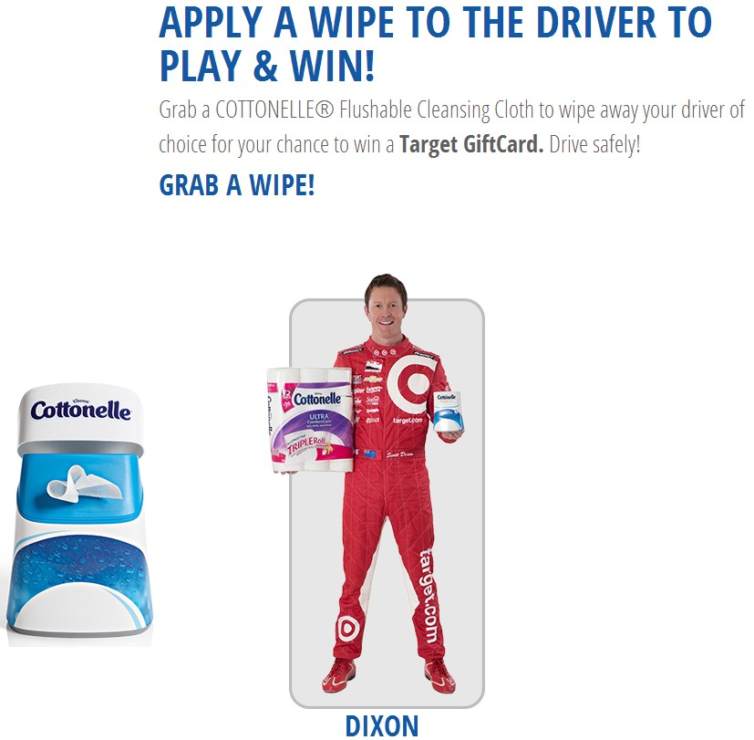 The Cottonelle® Wipe and Win Game