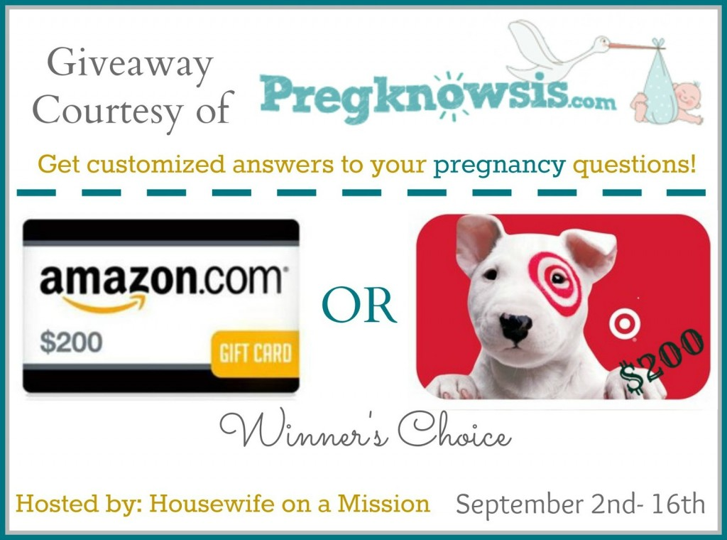 Pregknowsis giveaway