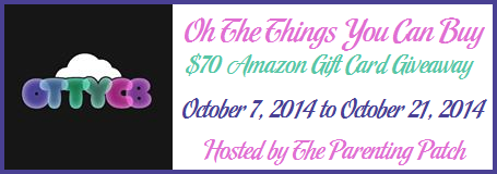 2014-10-07 Oh The Things You Can Buy $70 Amazon Gift Card Giveaway