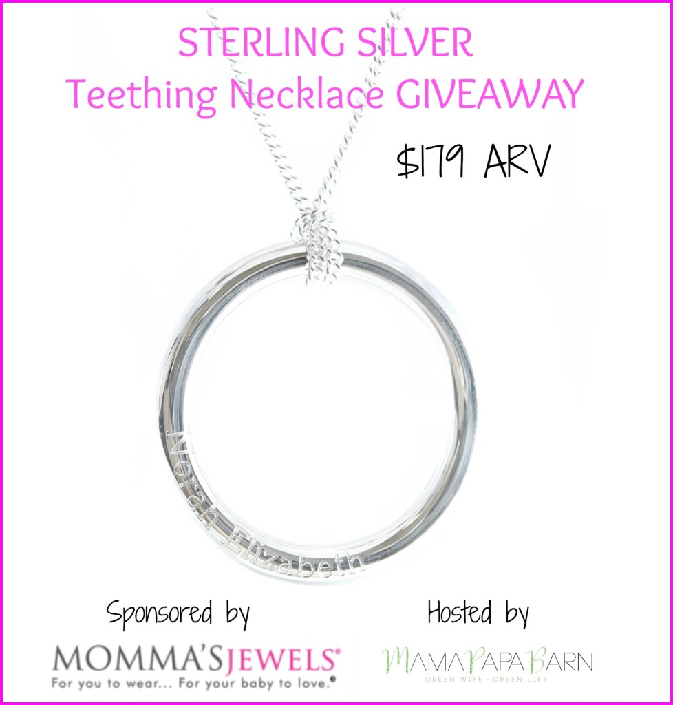 $179 Sterling Silver Teething Necklace Giveaway