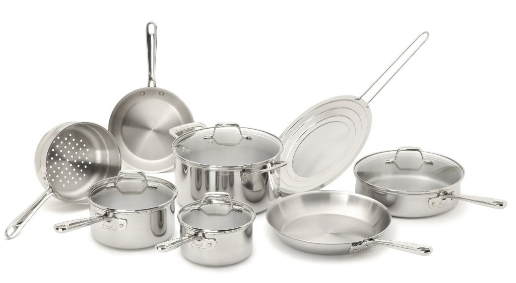 Emeril by All-Clad E914SC PRO-CLAD Tri-Ply Stainless Steel Cookware Set