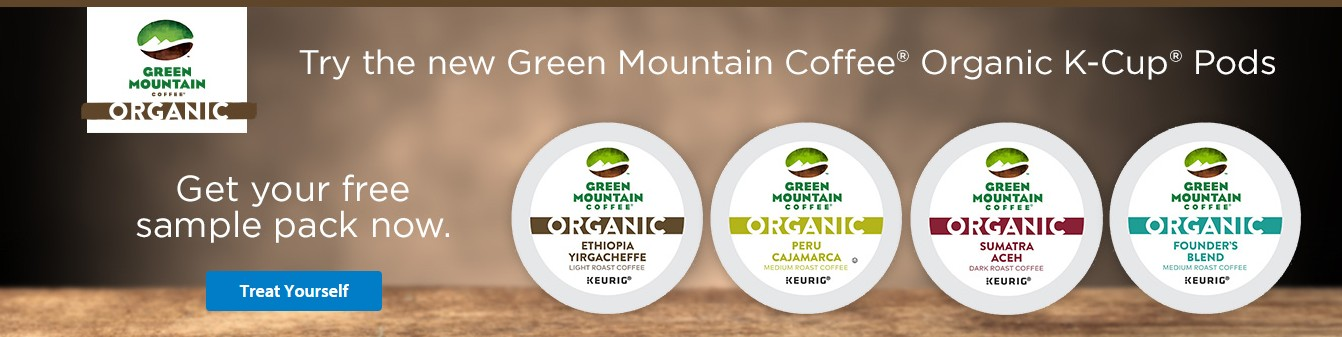 Green Mountain Coffee® Organic K-Cup® Pod