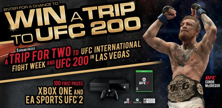 MONSTER ENERGY® CHANCE TO WIN A TRIP TO UFC200