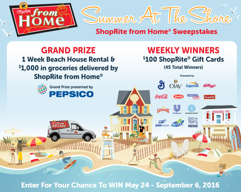 ShopRite from Home® Summer at the Shore Sweepstakes