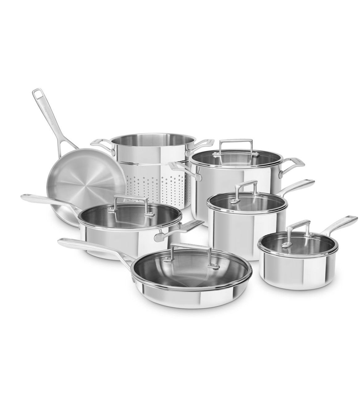 KitchenAid Tri-Ply 12pc Cookware Set