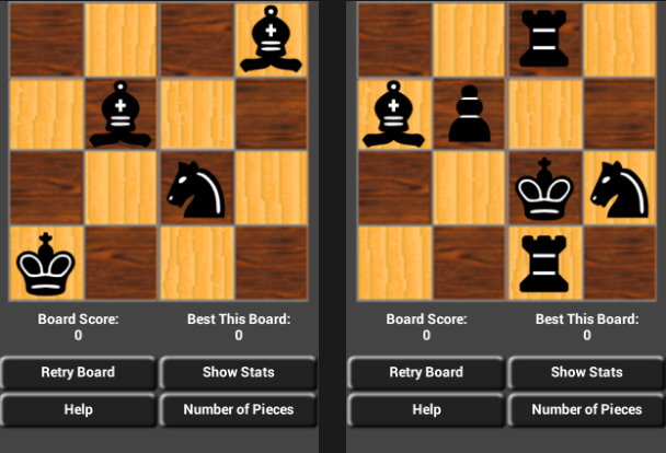 4x4 Solo Mini Chess Puzzles